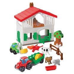Ecoiffier Farma Z Autami Figurki Zwierząt