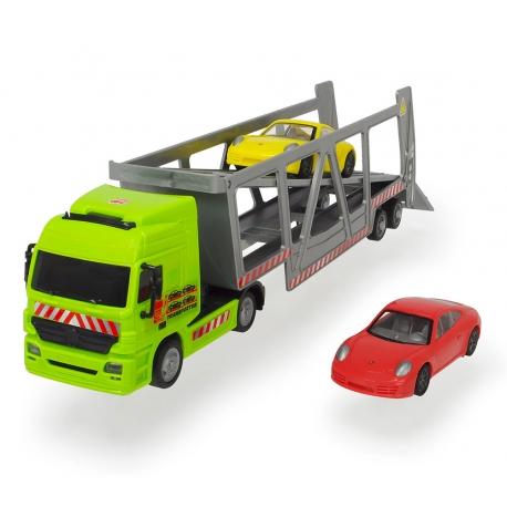 DICKIE Ciężarówka Laweta z dwoma samochodami Porsche
