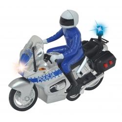 Dickie Motor policyjny SOS Światło Dźwięk