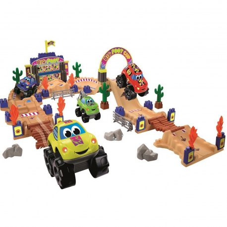 Ecoiffier Abrick Tor Wyścigowy Monster Truck 4 Auta Samochody