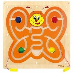 Viga Drewniana Tablica Manipulacyjna Magnetyczna Motyl