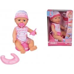 SIMBA Lalka mini New Born baby z akc. 30 cm bobas pije siusia