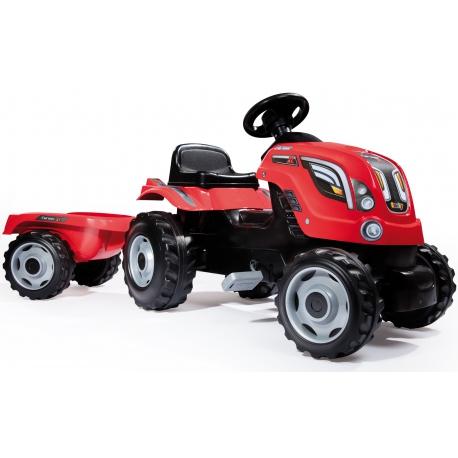SMOBY Traktor na pedały Farmer XL z przyczepą - Czerwony