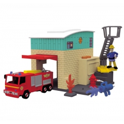 Remiza strażacka Dickie Strażak Sam + Wóz strażacki Jupiter