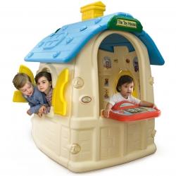 Injusa Duży Domek Ogrodowy Okiennice Stolik Toy House