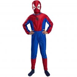 Strój Spiderman Kostium Przebranie Człowiek Pająk Maska dla dziecka 110-116cm