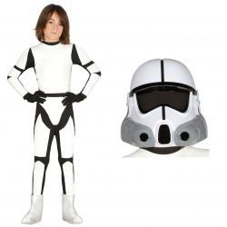 Strój Szturmowiec Star Wars Gwiezdne Wojny Klon Kombinezon + Kask dla dziecka 122-134cm