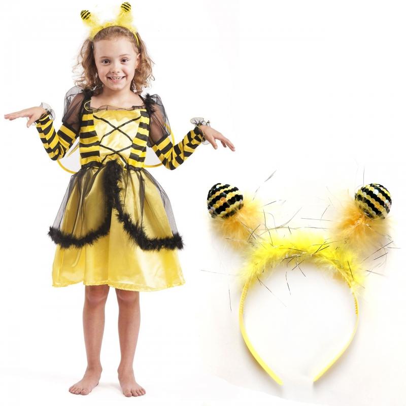 c2b901df08 Strój Pszczółka Maja Pszczoła Kostium Skrzydła Opaska Sukienka dla dziecka  110-116cm