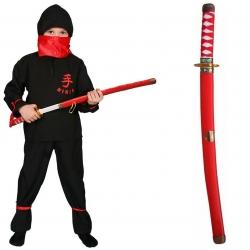 Strój Ninja Wojownik Ninjago Kostium Bluza Spodnie Miecz Pas Chusta dla dziecka 110 cm