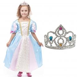 Strój Księżniczka Sukienka Korona Roszpunka dla dziecka 110-116cm