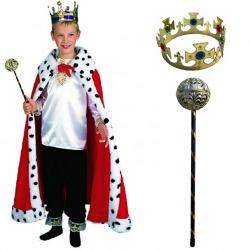 Strój Króla Król Berło Korona Peleryna Kostium dla dziecka 110-116cm