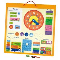 Viga Magnetyczny kalendarz edukacyjny 75 elementów