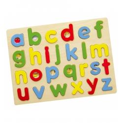 Puzzle do nauki Alfabetu Drewniana układanka abc Viga Toys