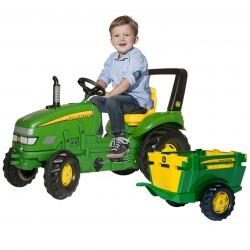 Rolly Toys rollyX-Trac Traktor na pedały John Deere + Przyczepa Farm JOHN DEERE Zielona