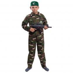 Strój Żołnierz Żołnierza Komandosa Wojskowy Kostium Przebranie dla dziecka 110-116cm