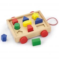 Drewniany Chodzik dla dzieci z klockami Viga Toys