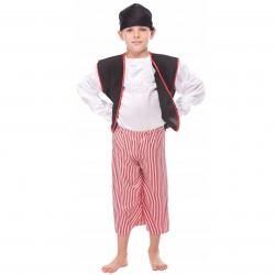 Strój Pirata Pirat Kostium Kapitan Bluza Spodnie Chusta Miecz Szabla dla dziecka 146cm