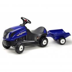 New Holland Jeździk Traktor Pchacz z przyczepką Falk
