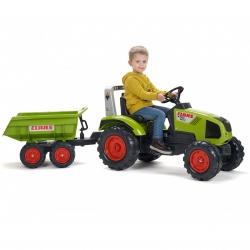 Claas Axos 330 Traktor na pedały z przyczepą FALK