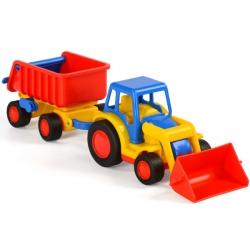 WADER Gigant Koparka Traktor + Przyczepa Wywrotka