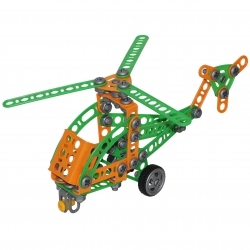 Wader Klocki Konstrukcyjne Mały Wynalazca Helikopter 130 elemantów