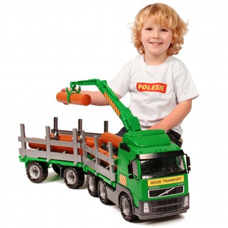 Wader QT Volvo Ogromna Ciężarówka Dźwig z przyczepą do przewozu drewna 75cm