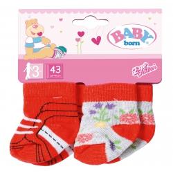 Baby Born Skarpetki dla lalki 43 cm 2 pary Czerwone