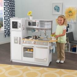 Biała Kuchnia Drewniana Dla Dzieci Kidkraft Uptown + Akcesoria