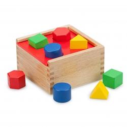 Drewniany Sorter Kształtów Kolorowe Figury Viga Toys