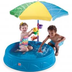Basen Ogrodowy dla dzieci z parasolem i akcesoriami Step2
