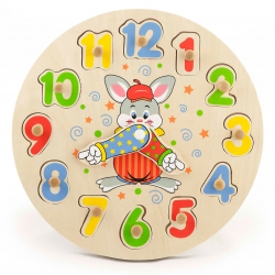 Drewniany Zegar Edukacyjny Sorter Liczb Viga Toys