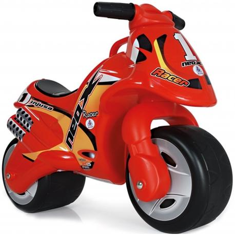 Injusa Jeździk Motor Pchacz Neox Race Czerwony Szerokie koła