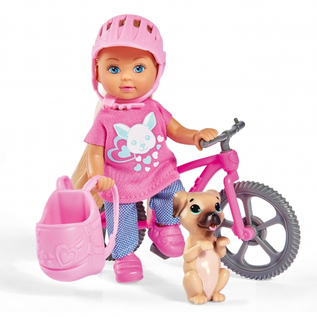 Lalka Evi Zestaw Rower Górski Akcesoria Piesek Simba
