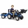 Landini Traktor na pedały z przyczepą i łyżką FALK