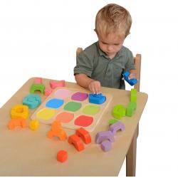 Kolorowe Klocki Dzielone Sorter Kształtów Kolorów Masterkidz