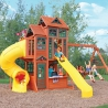 Plac Zabaw Dla Dzieci KidKraft Ogromny Drewniany 2 Zjeżdżalnie Huśtawki Kuchnia Dla Dzieci Canyon Ridge