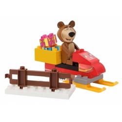 BIG Klocki Masza i Niedźwiedź Skuter Śnieżny Miszy