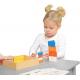 Drewniana Gra Dla Dzieci Kolorowe Klocki i Kubeczki Trójkąty Masterkidz