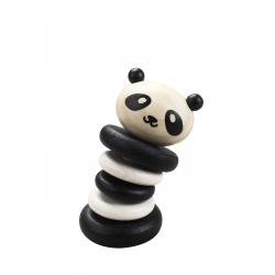 Drewniana Grzechotka Classic World Czarno-Biała Panda