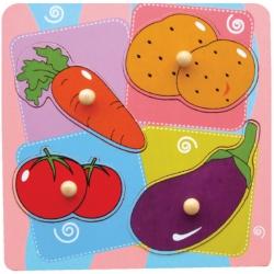 Drewniane Puzzle Warzywa Układanka Niespodzianka Viga Toys