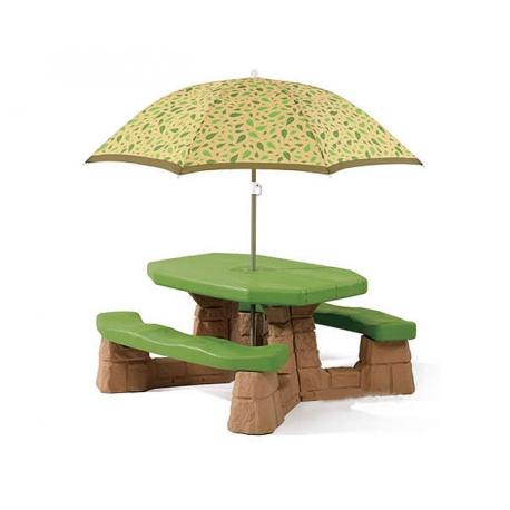 STEP2 Stół - Stolik piknikowy z parasolem