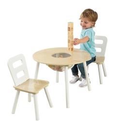 KidKraft Stolik Aspen z dwoma krzesełkami w kolorze białym
