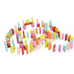 Drewniane Kolorowe Domino - Misie Classic World