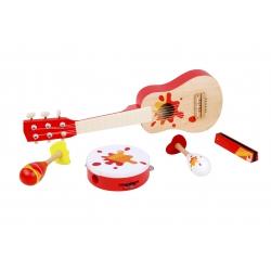 Zestaw Muzyczny Gitara Tamburyn + Akcesoria Classic World
