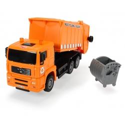 DICKIE Pojazdy Heavy City Ciężarówka Śmieciarka
