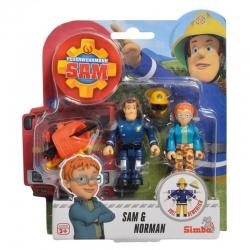 Strażak Sam 2 Figurki z akcesoriami Sam i Norman