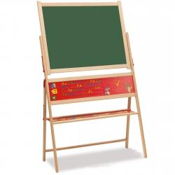 Drewniana tablica magnetyczno-kredowa Eichhorn