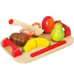 Eichhorn Drewniana deska do krojenia z owocami