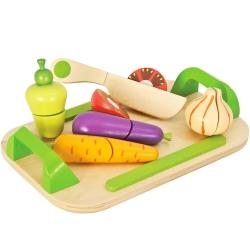 Eichhorn Drewniana deska do krojenia z warzywami