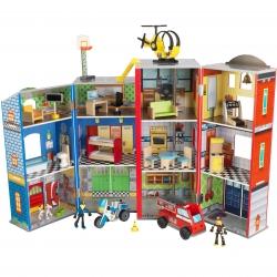 KidKraft drewniany domek superbohatera straż policja